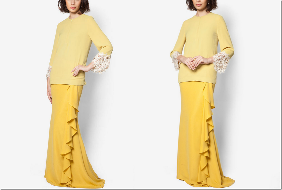 On Modesty & Ready To Wear JLuxe By Jovian Collection For Raya 2015: yellow-modern-baju-kurung