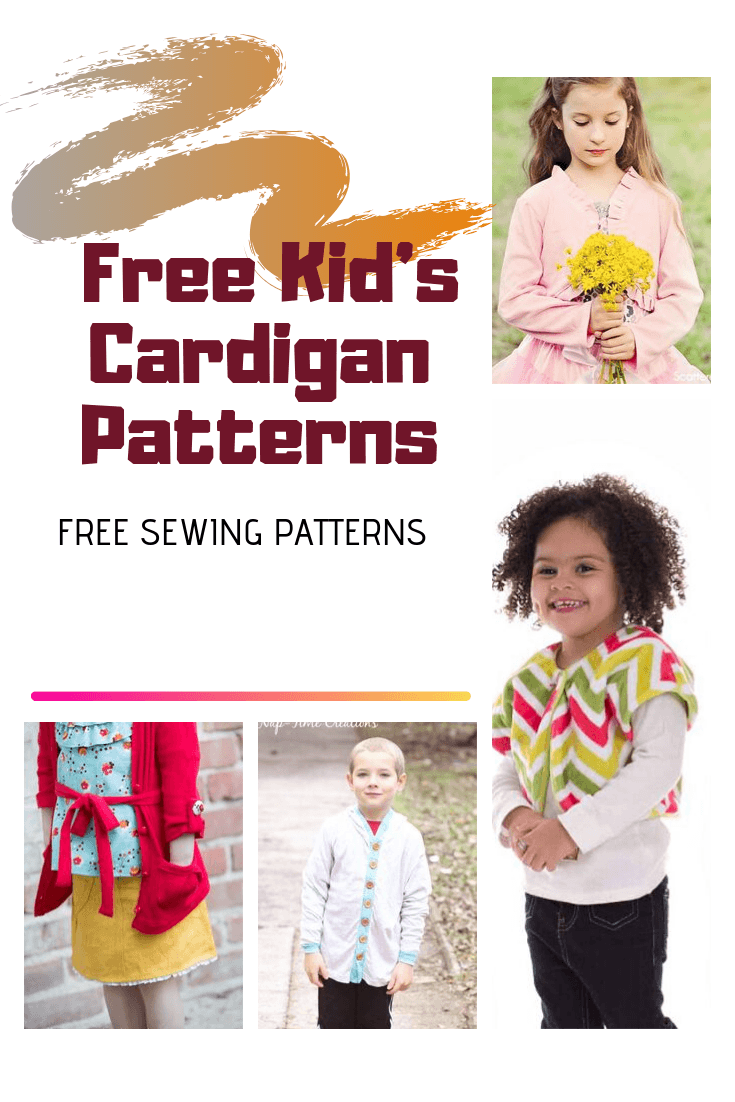 EASY FREE SEWING PATTERNS 10 Free Kid's Cardigan Patterns - On the Cutting Floor: Printable pdf sewing patterns and tutorials for women | On the Cutting Floor: Printable pdf sewing patterns and tutorials for women