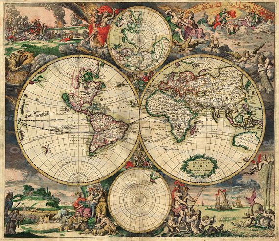 Vintage Old World Map Image Download Retro Style Design Resource Old - new world map software download for mobile