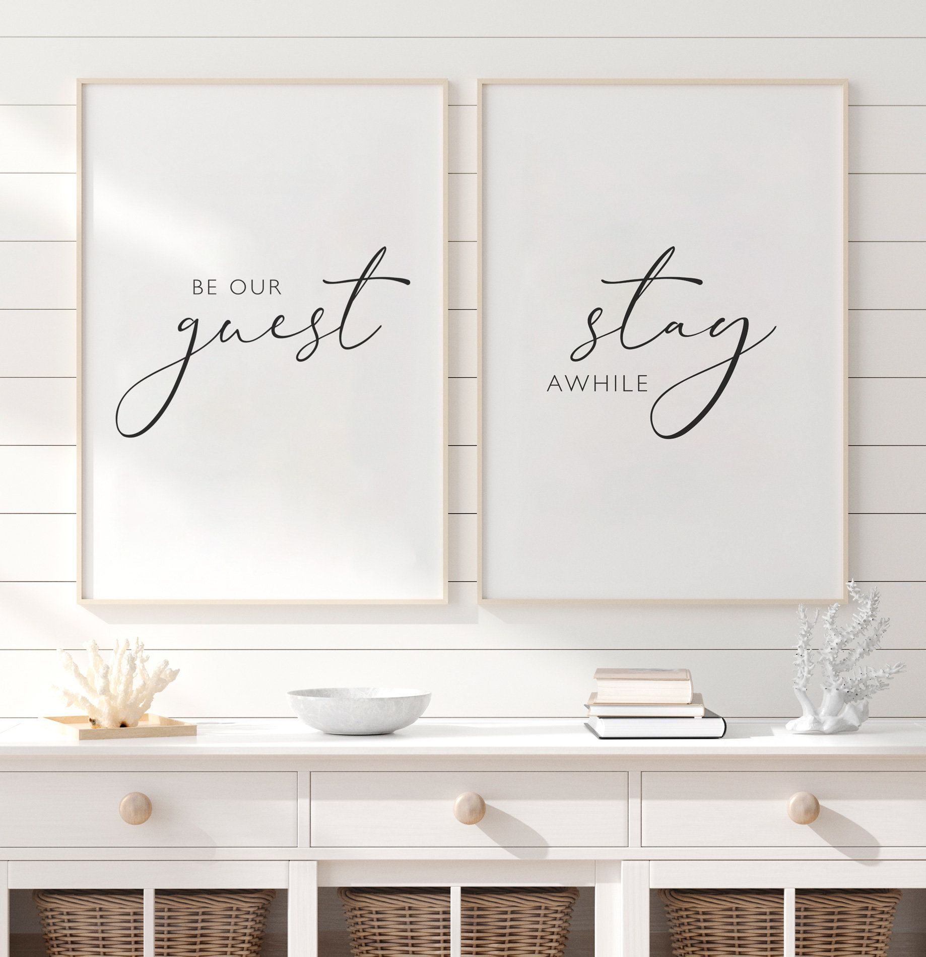 Be our guest stay awhile Printable, Guest room Wall Art