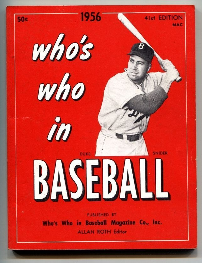 Who S Who In Baseball 1956 Baseball Sports Magazine Red Books