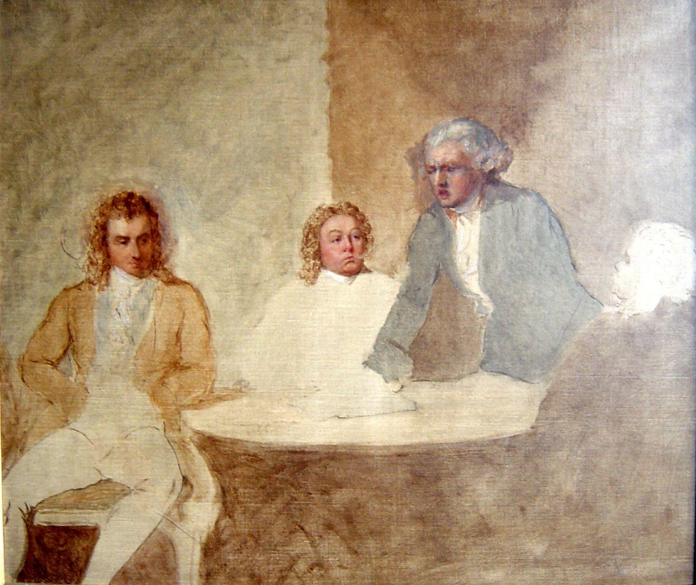 Georges Danton a meeting of maximilien de robespierre (1758 - 1794), louis