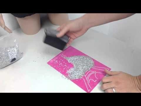 Trw Trick How To Brush Rhinestuds Into Sticky Flock Template Material Youtube Diy Rhinestone Silhouette Tutorials Silhouette Cameo Tutorials