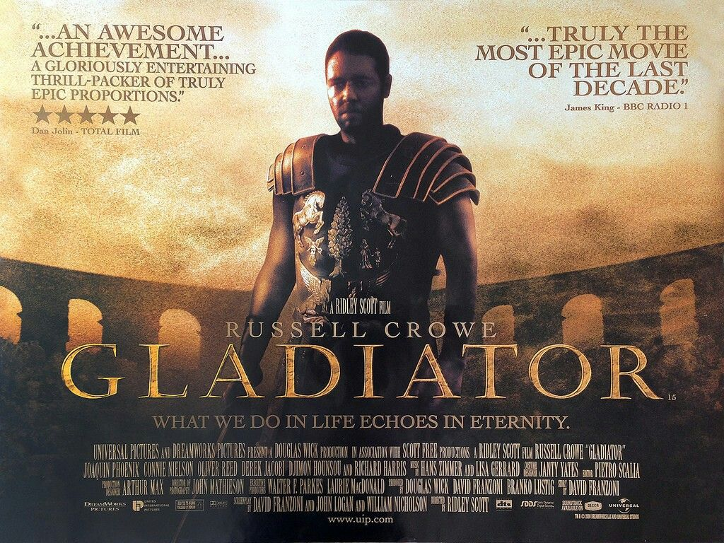 Gladiator quad movie poster | Gladiator movie, Epic movie, Film
