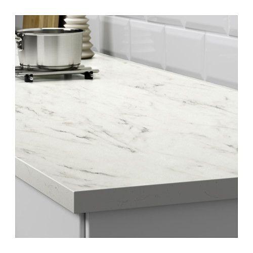 Ikea Ekbacken White Marble Effect Laminate Countertop For