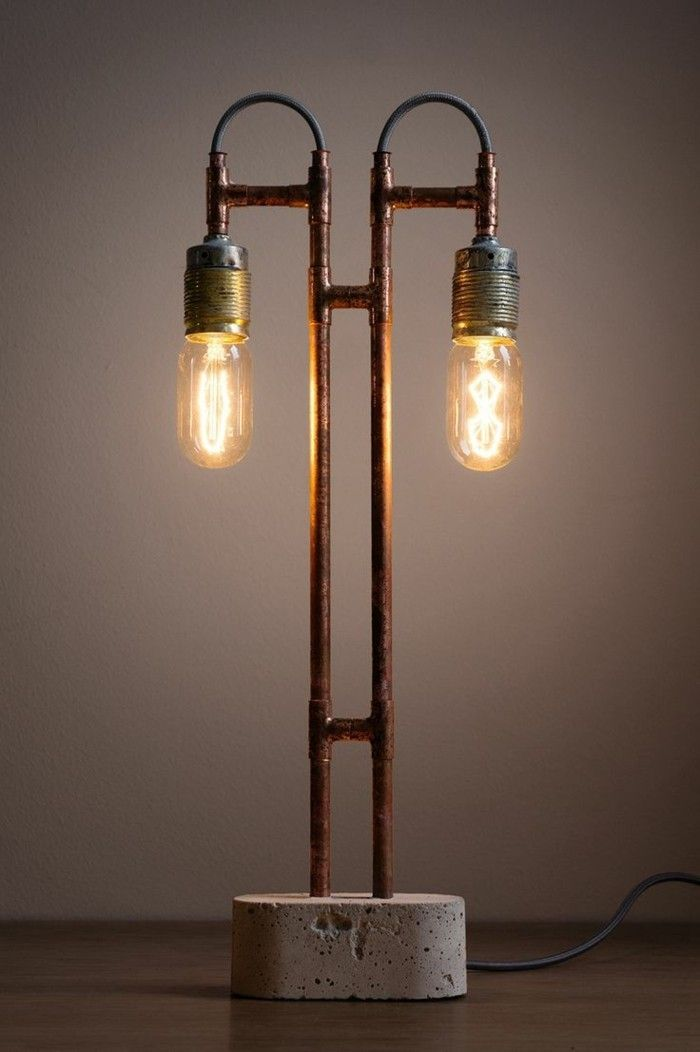 cool kupfer dekoration | Lampen, Betonlampe, Beleuchtungsideen