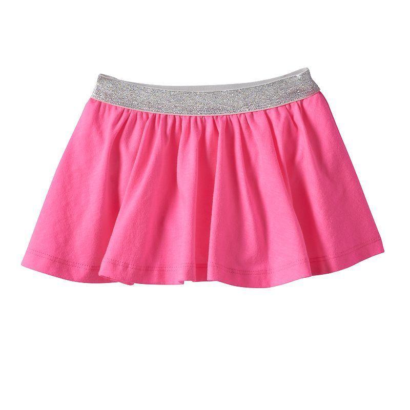 Baby Girl Jumping Beans® Glitter-Waist Skort, Size: