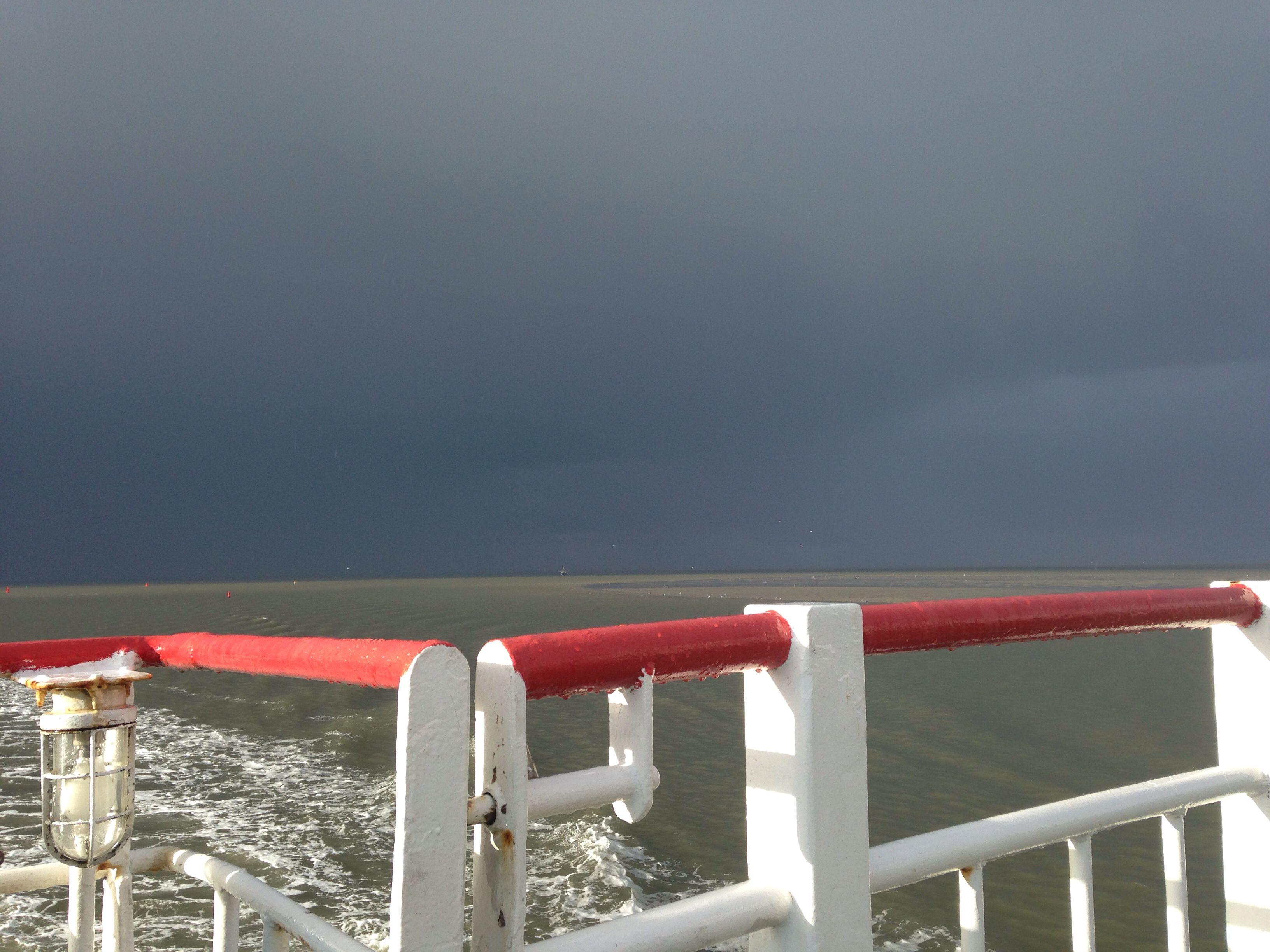 Op de boot naar Schiermonnikoog