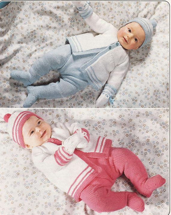 Baby Knitting Pattern Outdoor set Coat Leggings por carolrosa ...