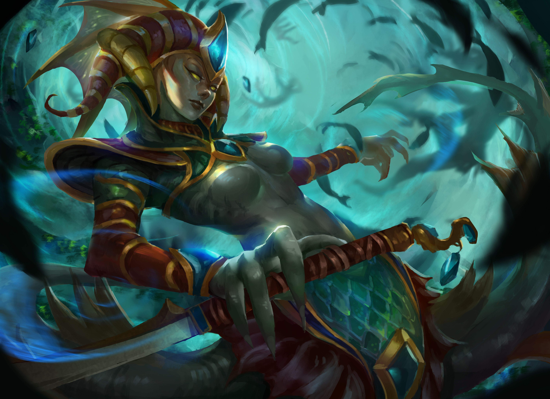 Naga Siren 創作系列 小的作品 Pinterest Dota 2 Sirens And Merfolk
