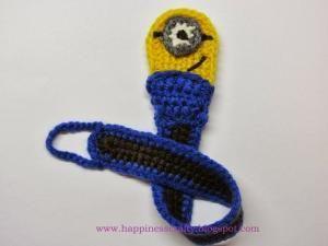 Minion Pacifier Holder ~ Free Crochet Pattern by Liesel Tschirpig Burger