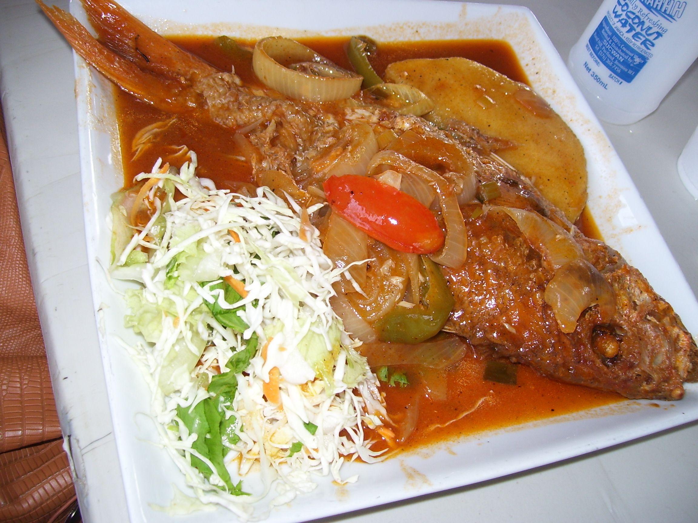 brown stew fish  port royal in jamaica  jamaican