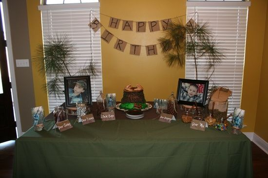 Deer hunting birthday party decorations party ideas for 13th birthday party decoration ideas