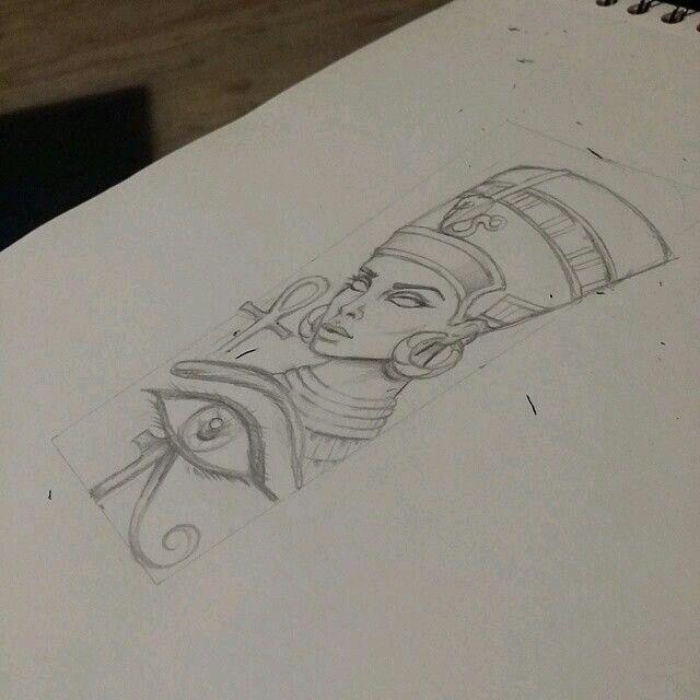 Pin By Omar Sanchez On Art Nefertiti Tattoo Egyptian Tattoo Queen Nefertiti Tattoo