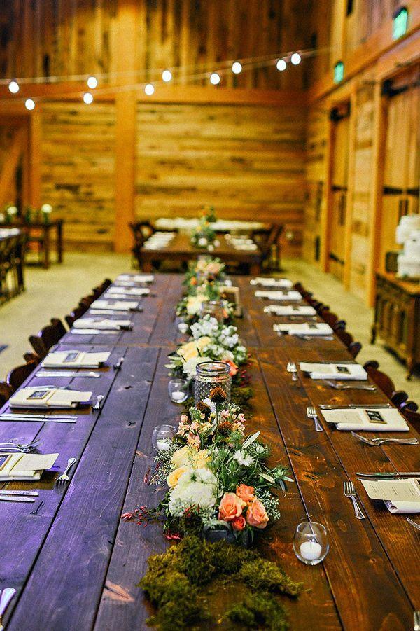 Woodland Rutstic Farm Wedding Table Ideas