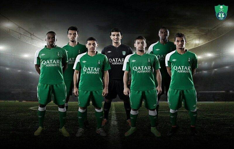 النادي الأهلي السعودي رسميا ثاني نادي برعاية طيران القطرية الراعي الرسمي لنادي برشلونة الإسباني ألف مبروك للــ أهلي Soccer Field Qatar Airways Sports
