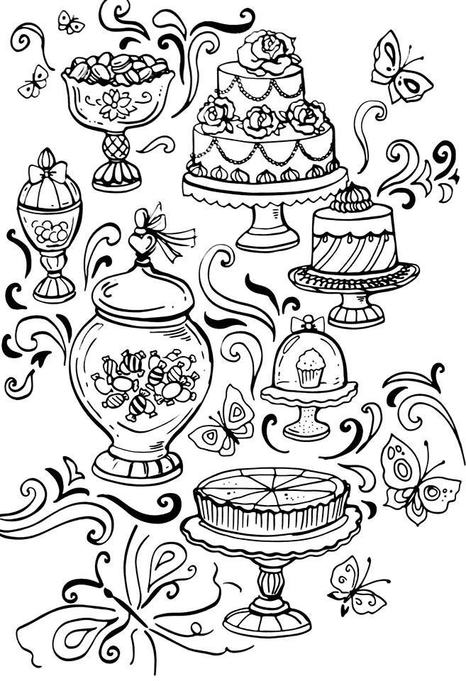 Arteterapia Com Imagens Adult Coloring Pages Ilustracao De