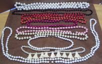 Plastic Bead Necklaces Costume jewelry