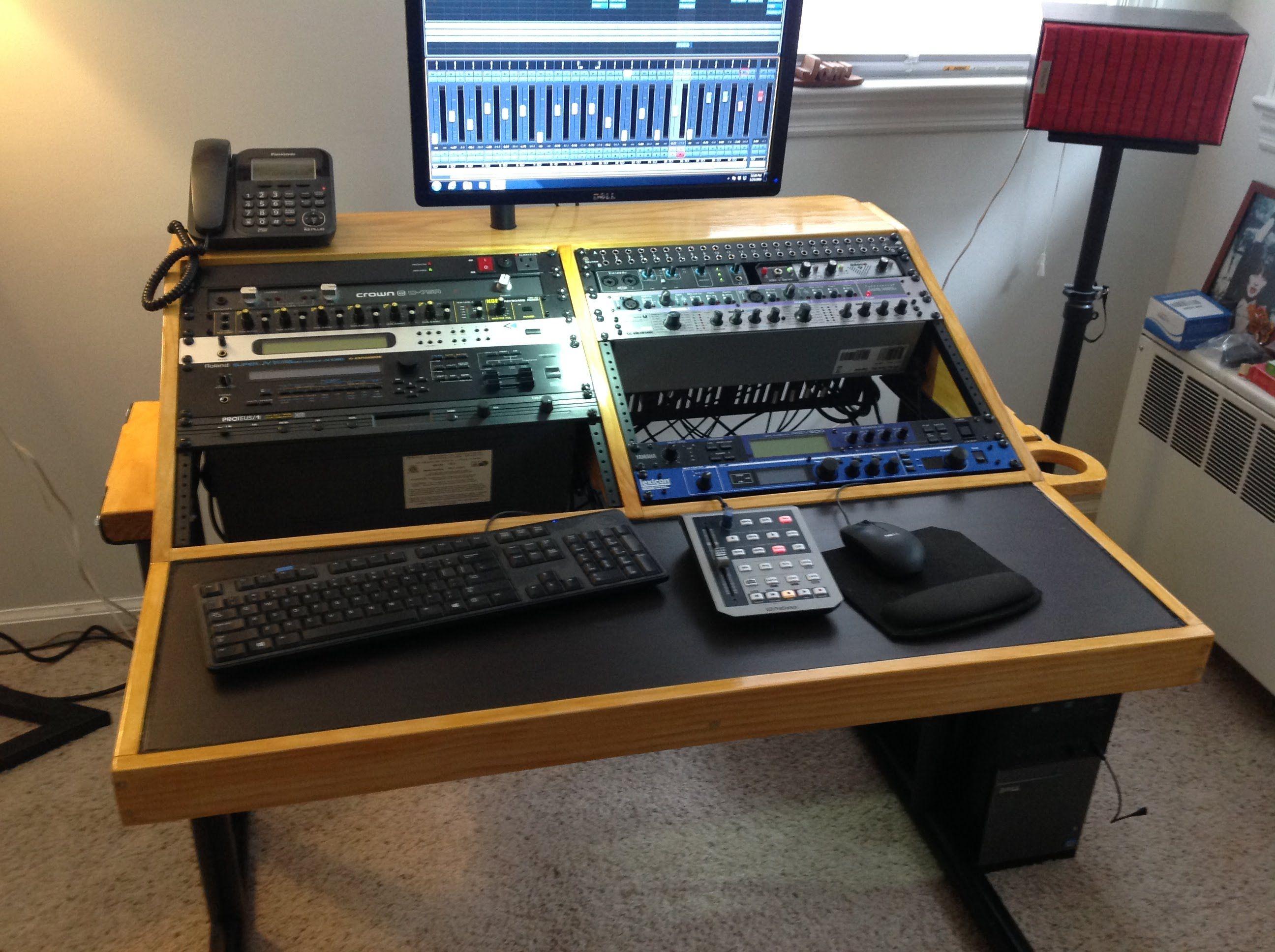 Home Studio Workstation Recording Desk Diy