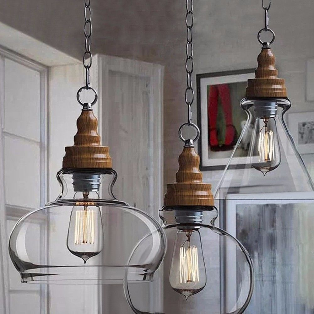 Moderno Retrò Scandinavo In Legno Stile Vintage Lampada A