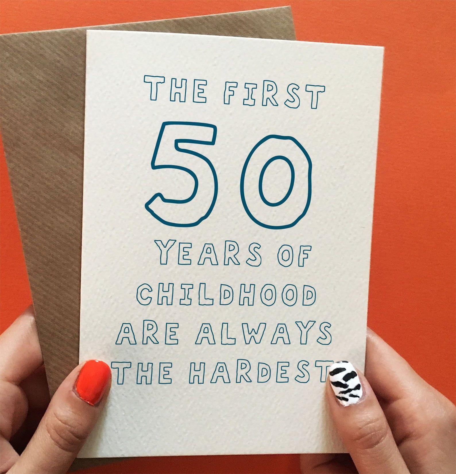 Funny 50th Birthday Card Husband 50th Birthday Card 50th Birthday Card For Brother Dad Or Friend Funny 50th Birthday Gift For Him Birthday Cards For Brother Birthday Cards For Son Dad