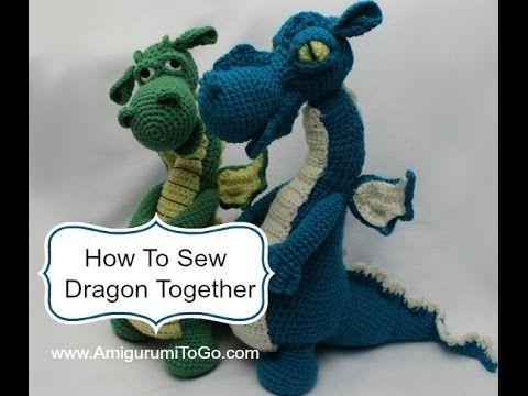 How To Make Dragon\'s Head - YouTube | crochet dragon pattern ...