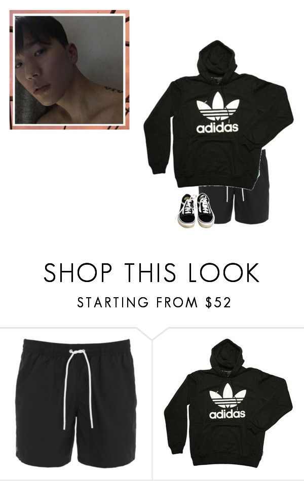 """jaebum • primary project challenge #2"" by peachesxcream ❤ liked on Polyvore featuring Lacoste, adidas, Vans, men's fashion, menswear and primaryproject"