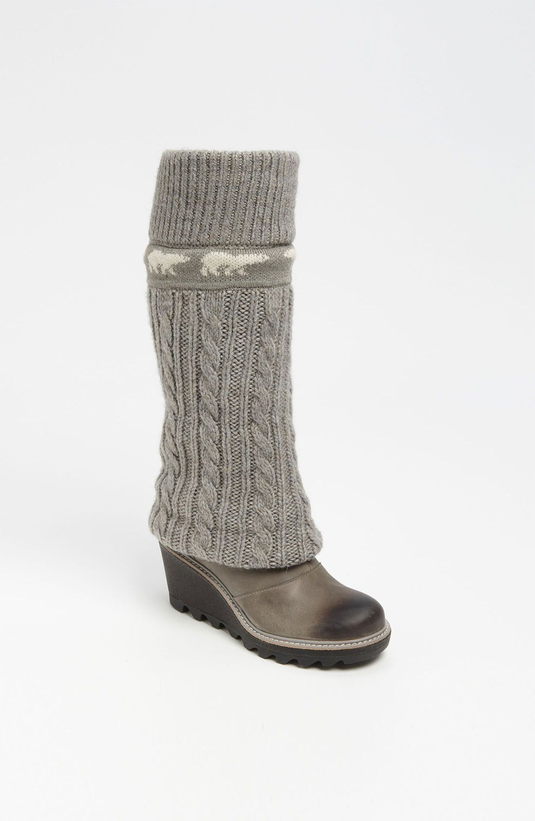 2ec0084d8e3 Sorel Crazy Cable Wedge Boot in Gray (lux) | Lyst | Personal Fashion ...