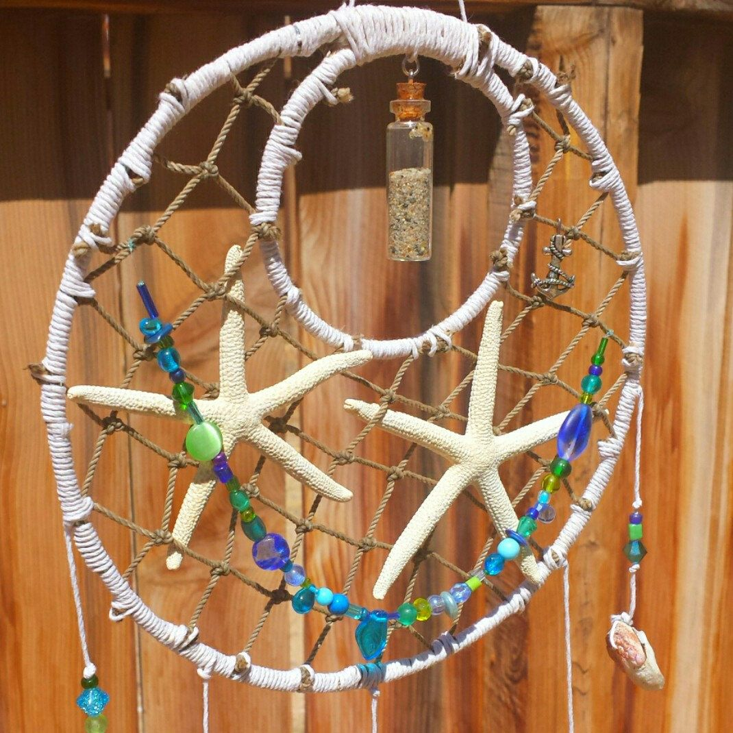I added starfish to my dream catchers! I'm thankful to one of my customers for this awesome suggestion!
