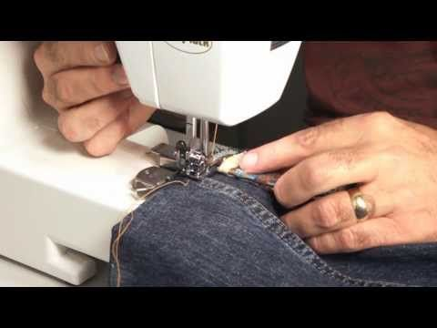 Hemming Jeans Tips On Using An Entry Level Home Sewing Machine Beauteous Hemming Jeans Sewing Machine