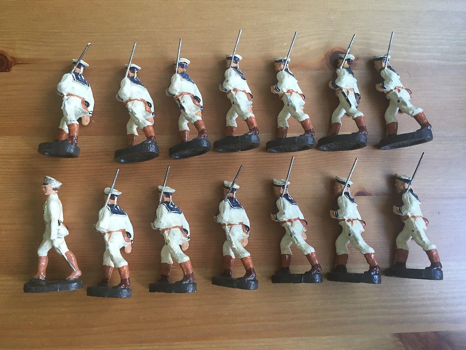 Elastolin 14 Soldaten Marine marschierend, Offizier mit Degen | eBay