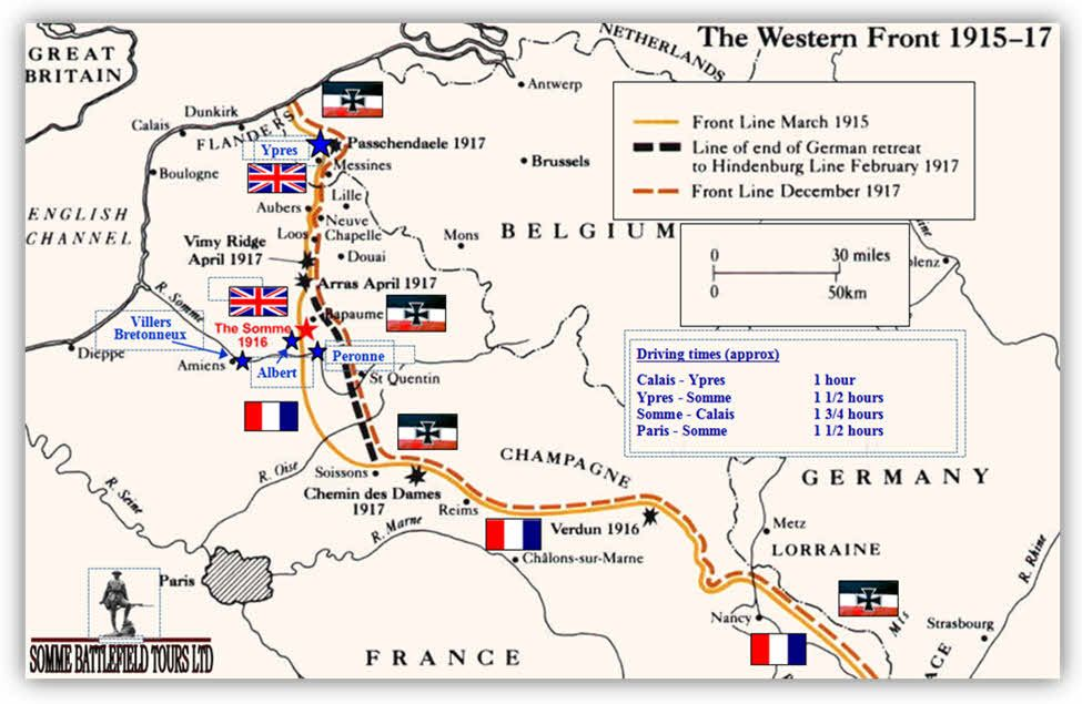 Self Drive Tours Of The Battlefields Somme And Ypres Battlefield