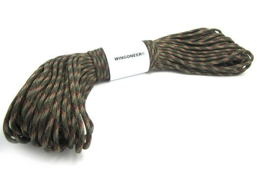 Brown Camo Paracord 1000 Foot 550 lb Bracelet Camping Survival Kit Rope Cord