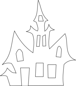 Scary House Silhouette clip art - vector clip art online, royalty free & public domain #novemberbulletinboards