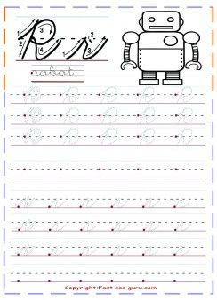 Free Printables Cursive Handwriting Tracing Worksheets Letter R For Robot  Foru2026