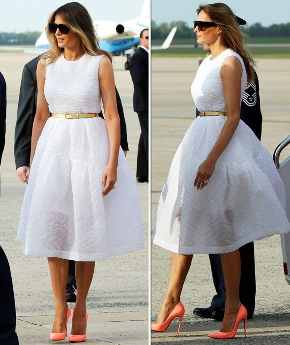 278c8e15a789 Melania Trump - First Lady has her own MARILYN moment as skirt ...