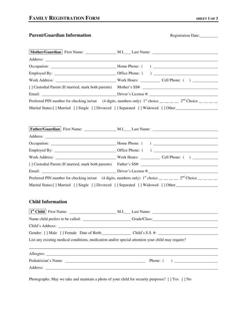 Enrollment And Get To Know You Form Home Daycare Daycare Forms