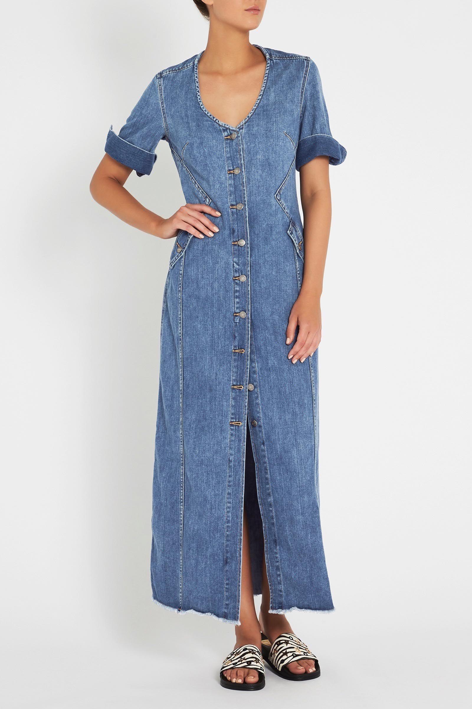 c9e278e93f3 THE REVELLERS LONG DRESS Denim maxi dress  sassandbide sass   bide  Australia shop online with