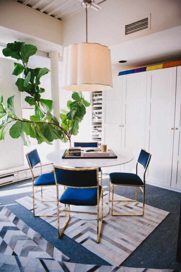 indigo home office. Bold Indigo Office Chairs: Http://www.stylemepretty.com/living Home
