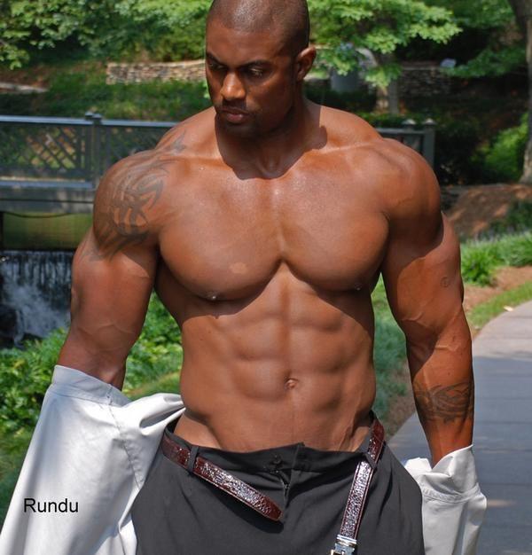 Black musclemen Nude Photos 82