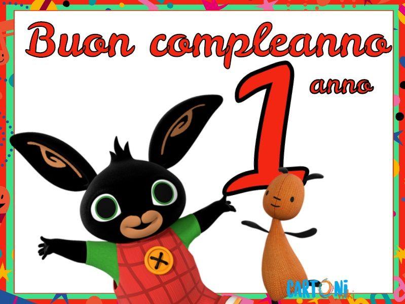Bing Buon Compleanno 1 Anno Cartoni Animati Compleanno Compleanno Coniglietto Buon Compleanno