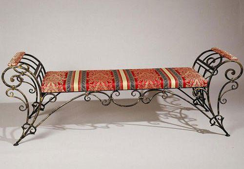 Cast Iron Garden Bench In The Adamesque Style C1880 Cast Iron