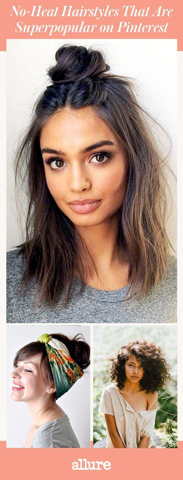 Easy hairstyles for medium hair quick no heat | Etsy