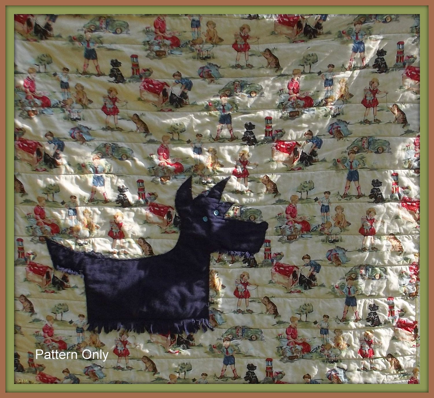 scottie dog quilt pattern | in and out the needle goes | Pinterest ... : scottie quilt pattern - Adamdwight.com