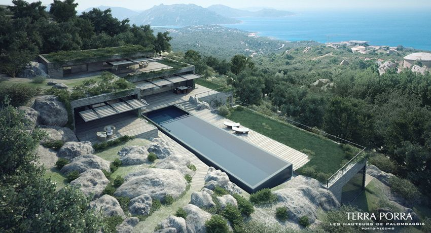Corsican Mountain View Villas Visualized | Villas, Studio ...