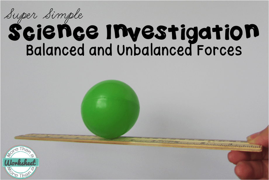 Teaching Balanced And Unbalanced Forces - More Than A Worksheet Teaching  Science, Force And Motion, Science Classroom