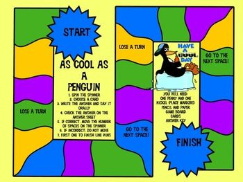 Make learning about fractions a lot more fun with the help of some very frustrated penguins! This six page read-aloud story is the kick off to your students' discovery of fractions.  Once each skill is presented and practiced, a game is provided that can grow along with your students' skill level. The unit is made for third graders, but is also useful for fraction remediation for fourth graders. $