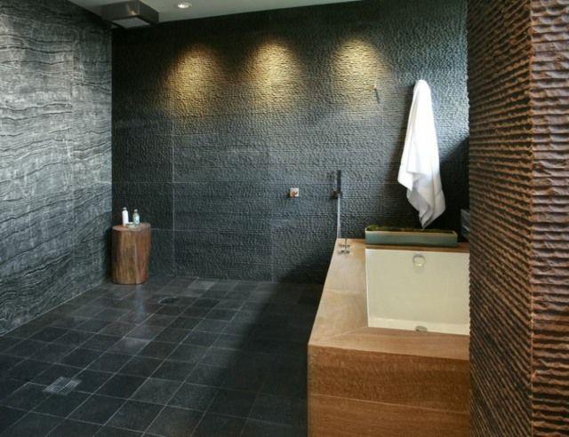 Salle de bain parentale style bois+pierre Houseboat Pinterest