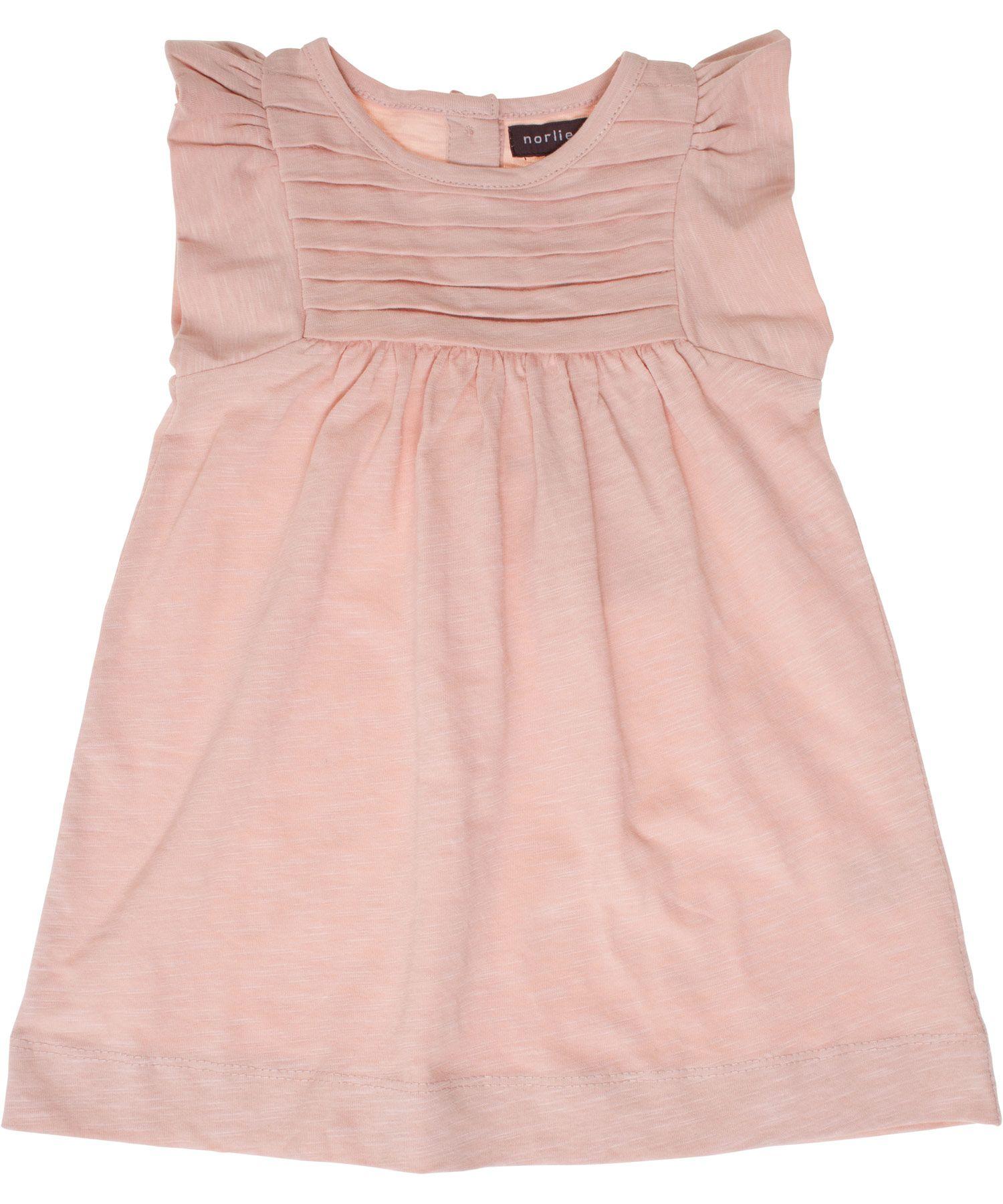 Norlie baby jurkje in zacht roosSlub jersey | La princesa