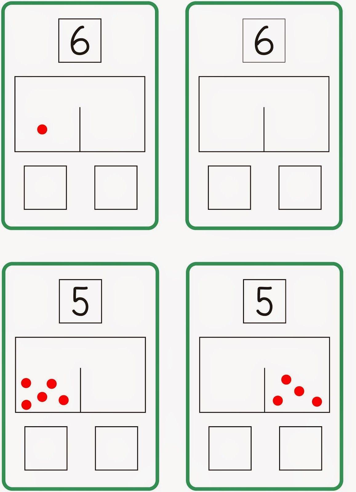 Zahlzerlegung - Schüttelbox (2) | oktatás | Pinterest | Math, School ...